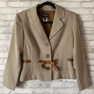 Sweet Suit Button Blazer Brown Size 8